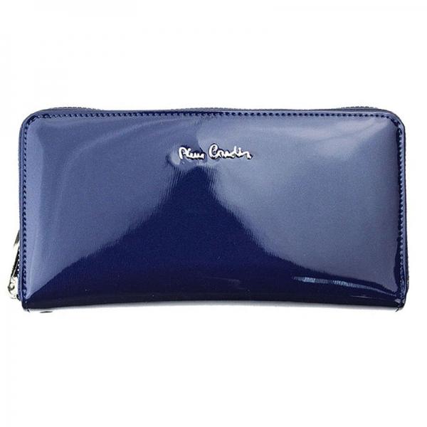 Portofel dama din piele naturala Pierre Cardin PD813 Albastru